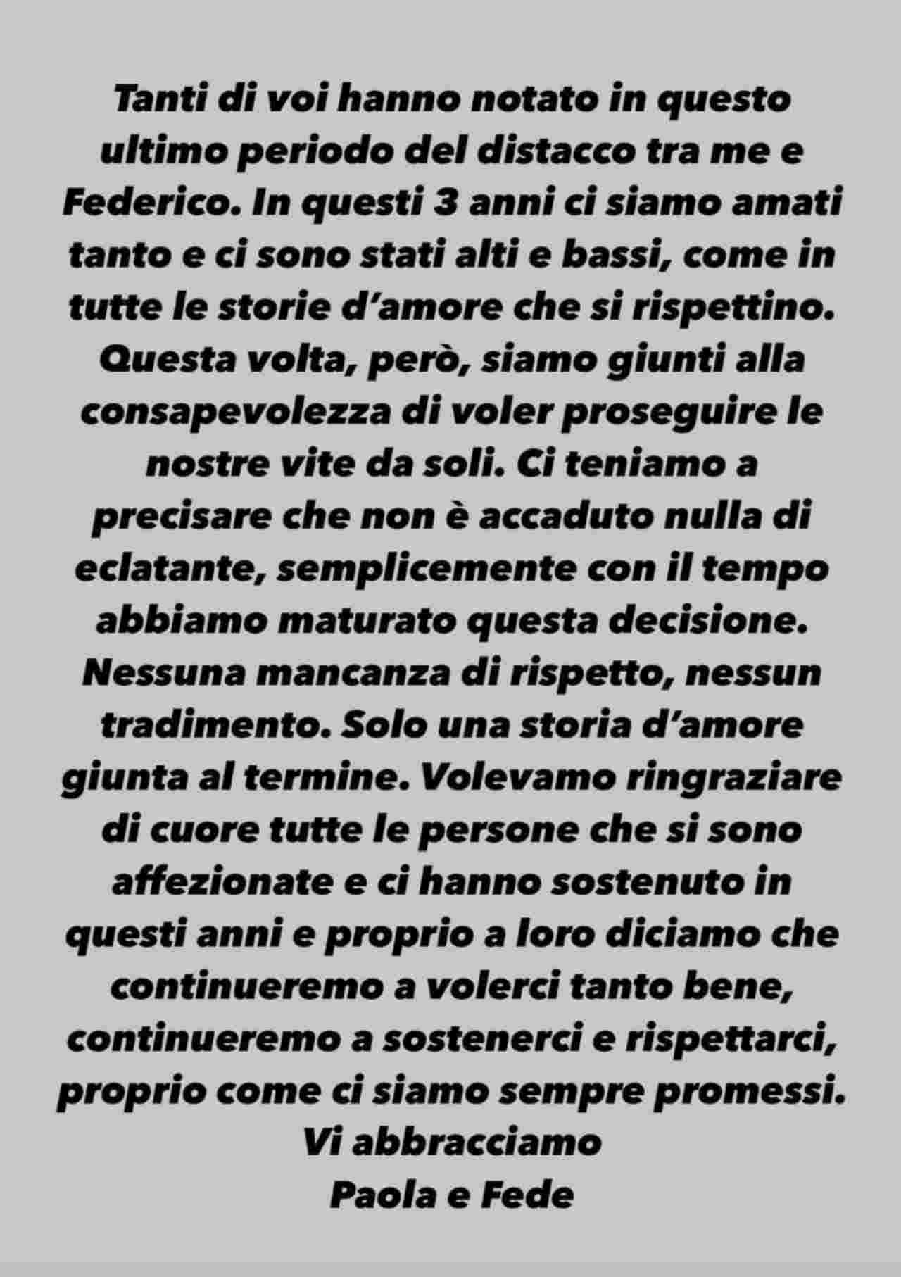 storia Instagram Paola Di Benedetto