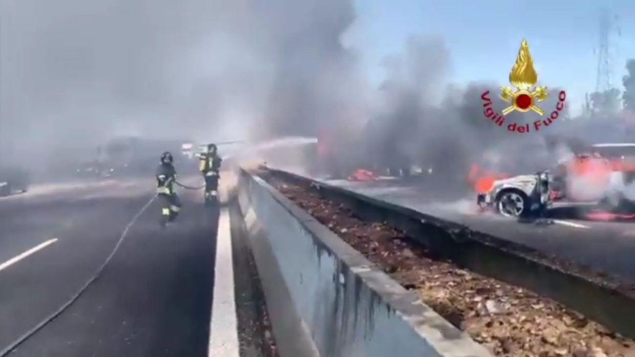 Video incidente A1 Piacenza