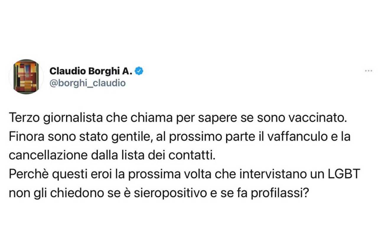 Borghi tweet