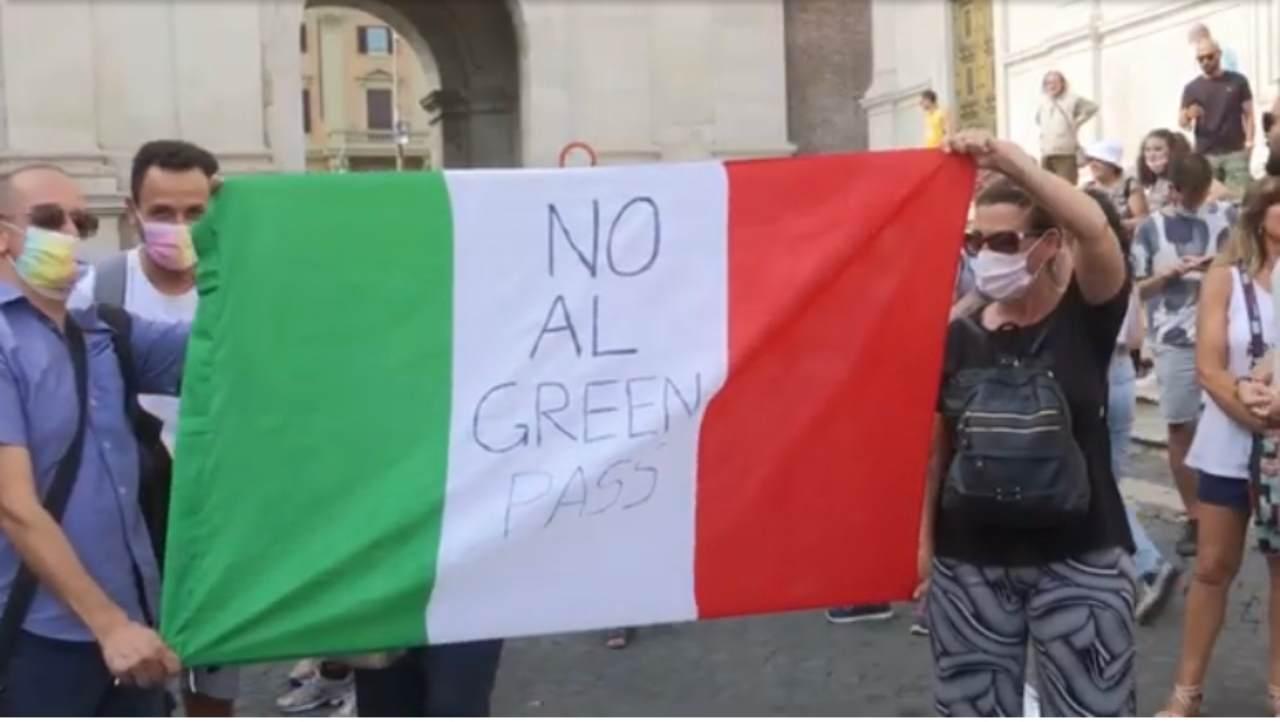 no green pass proteste