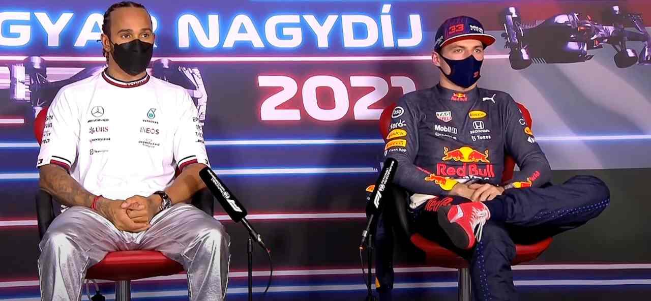 Hamilton e Verstrappen