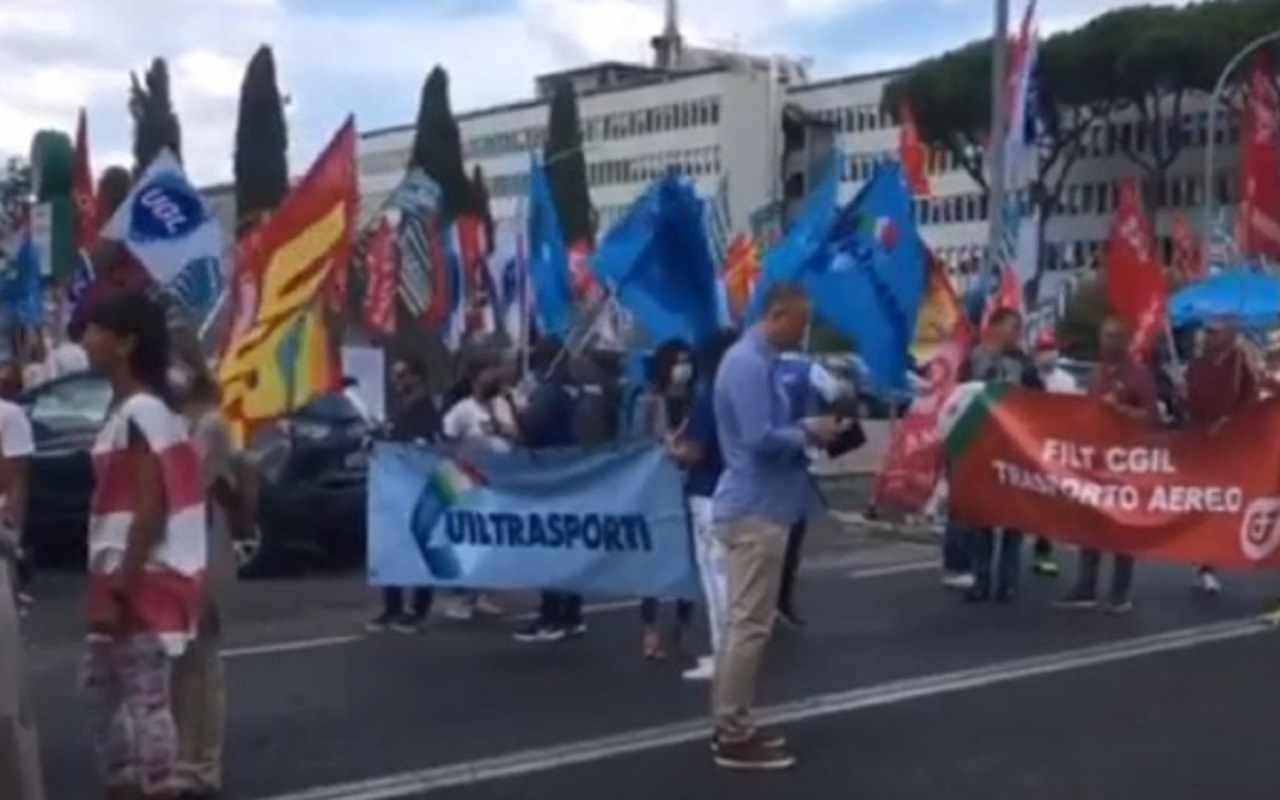 Protesta sindacati