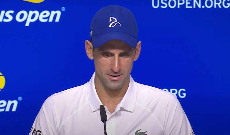 Djokovic in conferenza